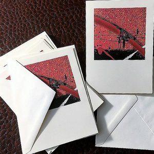 Rainbow Art Note Card Blank Greeting or Invitation